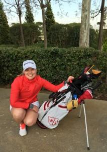 Espanjan leirillä pelasin ensimmäistä kertaa ulkona uusilla Wilson Golfin mailoilla. Olen erittäin iloinen, kun saan kuulua Wilson tiimiin!
